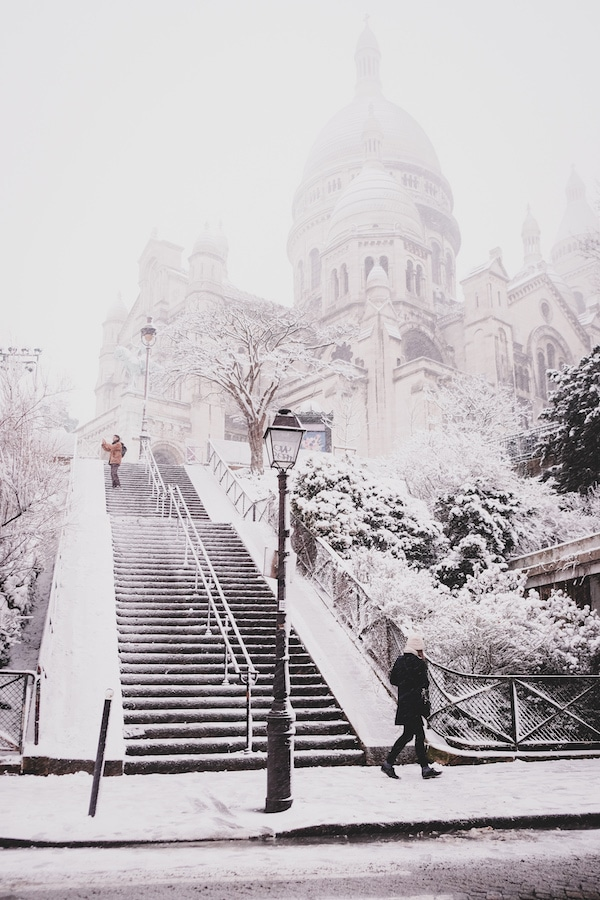 montmartre in the snow