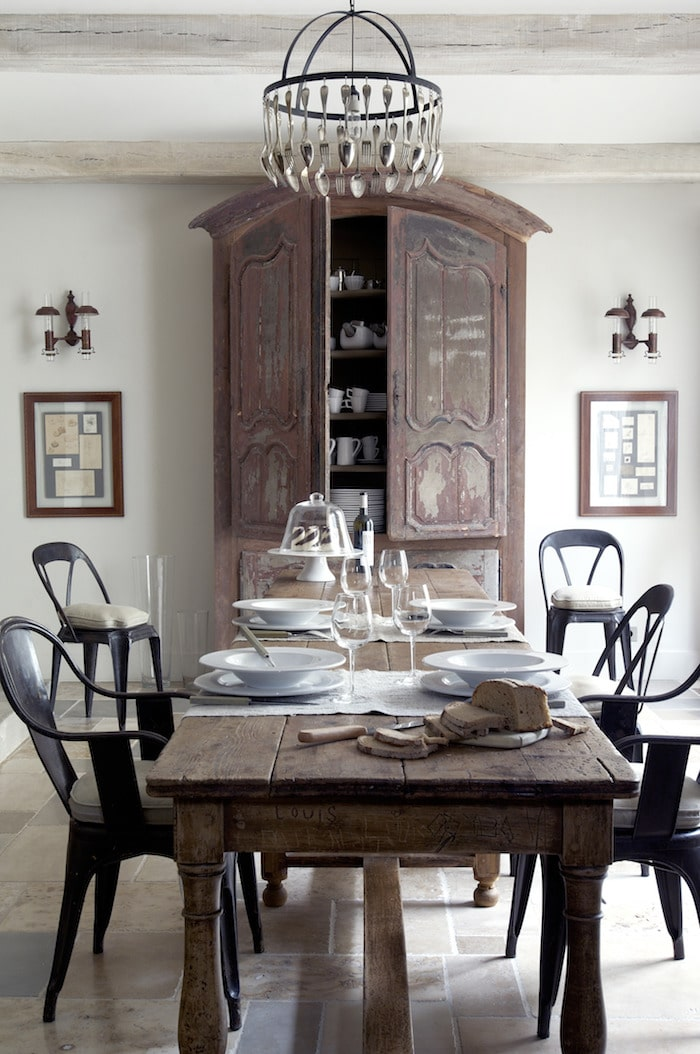 dining room seen in the january-february issue of my french country home magazine