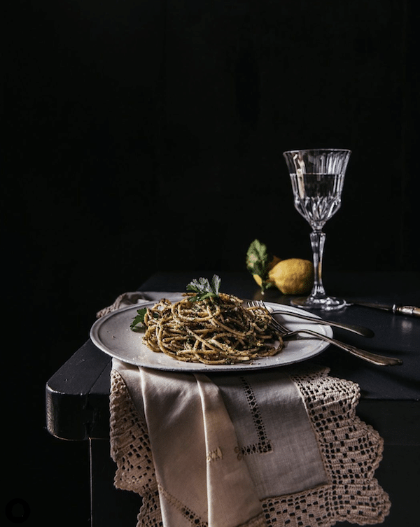 plate of spaghetti still life photo