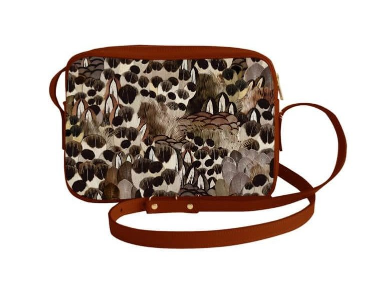 will you win this crossbody bag in leather and printed cotton made in france