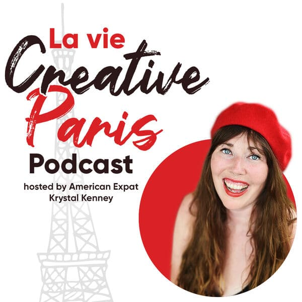 podcast cover with woman in red beret