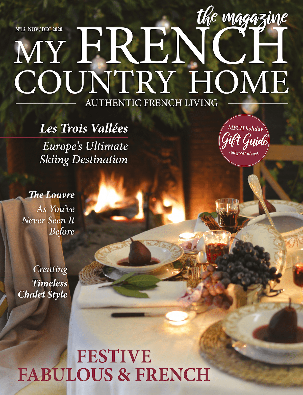 front cover of november-december magazine of my french country home