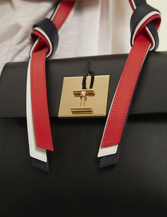 purse with ribbon