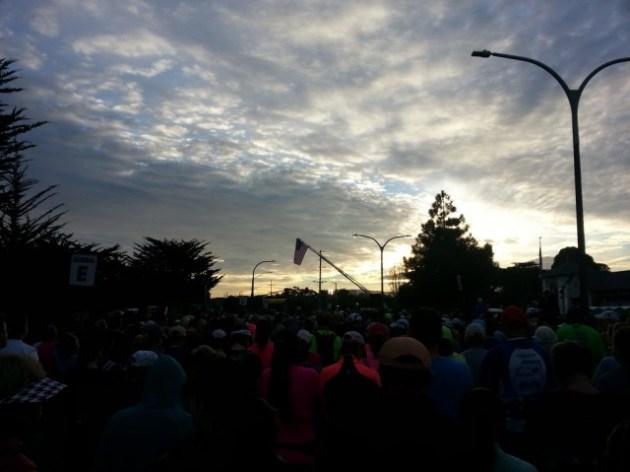 Big Sur - Flag over crowd