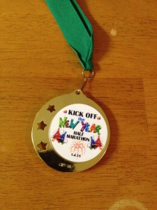kick off the new year medal