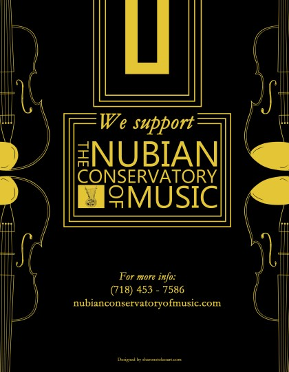 Nubian Conservatory of Music Support Flyer, 2015, Graphic Design.