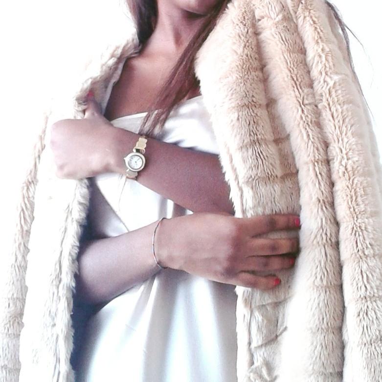 """ My new Kaijè faux fur coat """