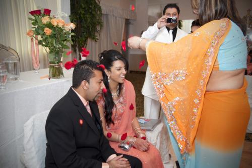 Indian Hindu Engagement Ceremony
