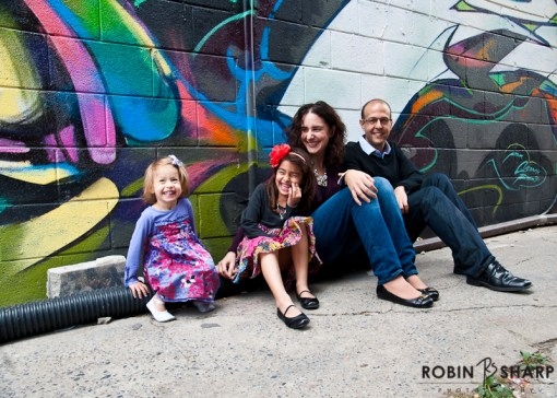 Family Portrait, Kensington Market. Toronto Family and Wedding Photographer.