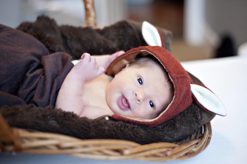 Newborn baby in home session portrait Toronto Leslieville GTA