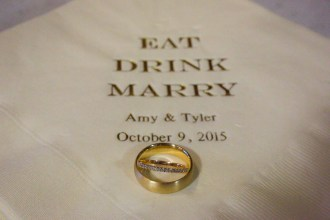 Details - Personalized Napkins - Gold - Wedding Bands - Offbeat Bride - St.Lawrence Market Wedding - Toronto Wedding Photographer