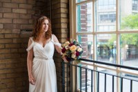Bride Portrait - Offbeat Bride - St.Lawrence Market Wedding - Toronto Wedding Photographer