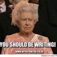 You Should Be Writing - Queen Elizabeth