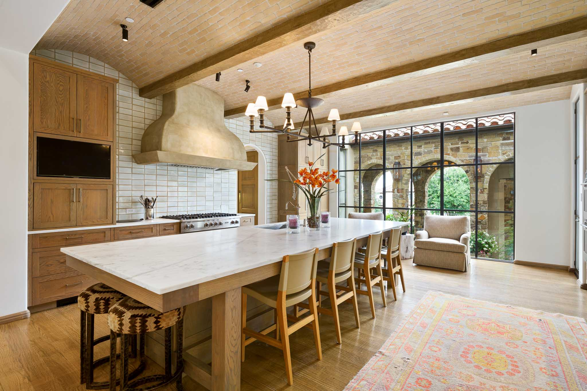 Spanish colonial style upscale kitchen