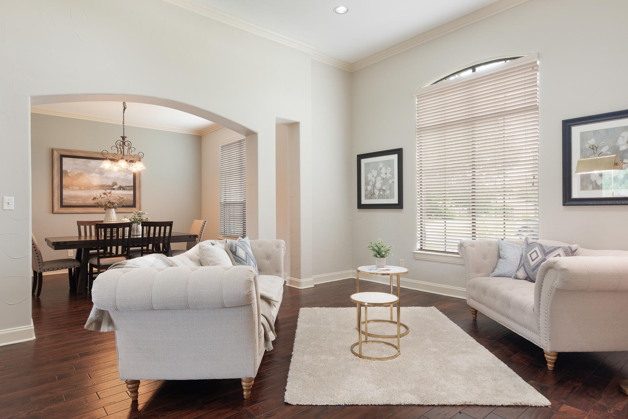 Professionally staged formal living room