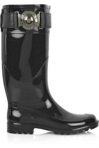 Burberry black wellington boots