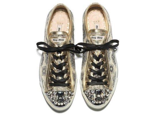 miu miu sparkle shoes brogue style