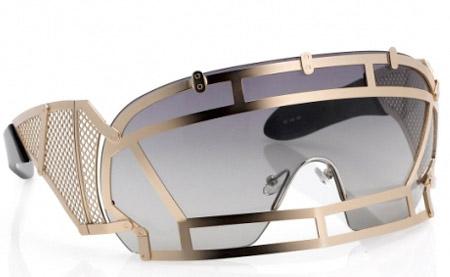 linda farrow face shield futuristic glasses