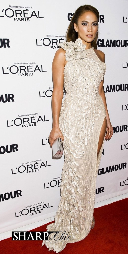 jennifer lopez glamour awards versace dress