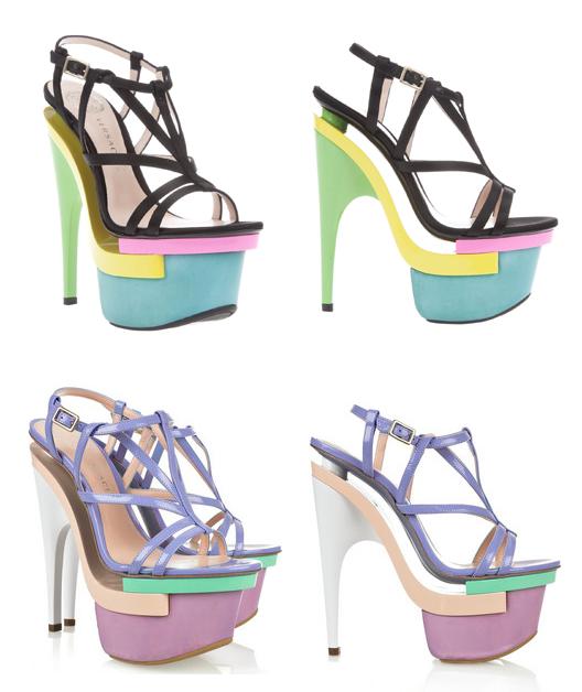 nicki minaj versace triple platform heels