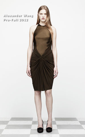 alexander wang rihanna green dress 2012 collection