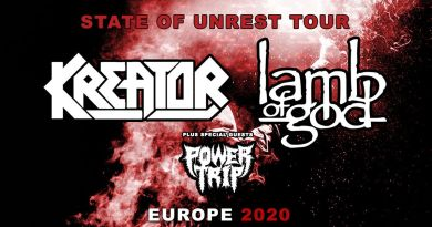 "Ankündigung: ""State Of Unrest""-Tour mit KREATOR, LAMB OF GOD und POWERTRIP"