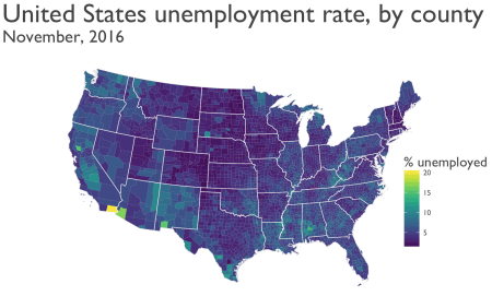 Mapping Unemployment Data Rbloggers - Us county map in r