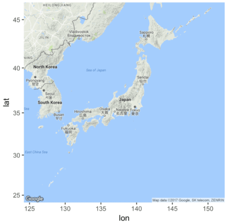 How To Plot Basic Maps With Ggmap Rbloggers - Basic map of the world