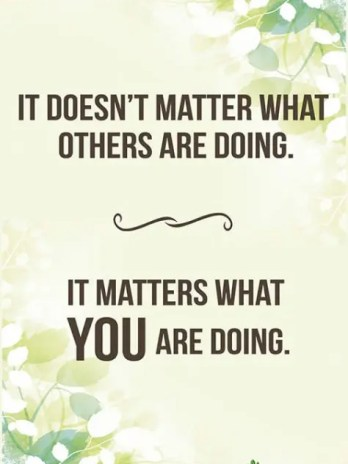 It Doesn't Matter What Others Are Doing, Poster (11×17) – Sharp Student