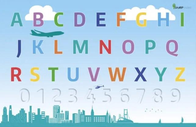 ABC's Alphabet Cityscape Poster