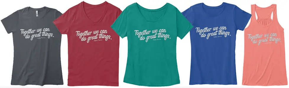 Together We Can Do Great Things - Sharp Student Tee