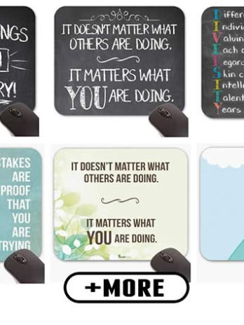 Educational Growth Mindset Mouse Pads