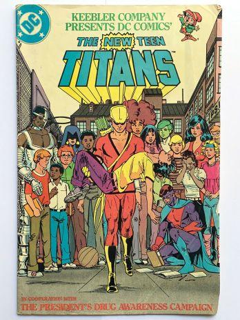 DC Comics Keebler New Teen Titans Drug Awareness 1983 Comic Book, Nancy Reagan