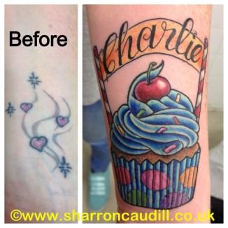 Cupcake cover up tattoo