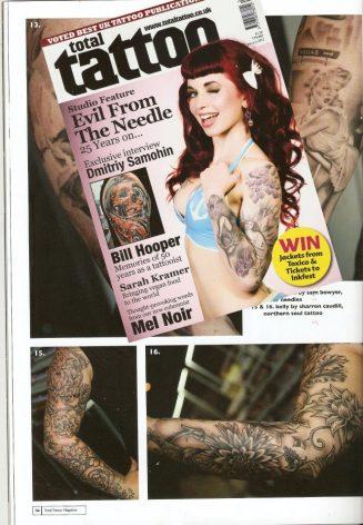 Total Tattoo 87 Jan 12 - Kellys Sleeve By Sharron