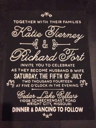 Silhouette Wedding Invite