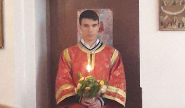 Пасхальная литургия, служил архимандрит Филипп.