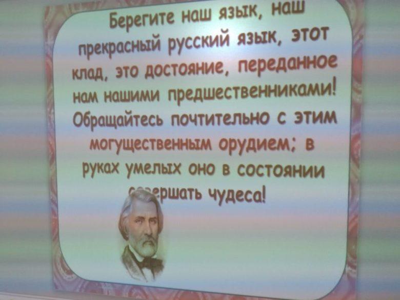 Родной, чудесный, красивый русский язык