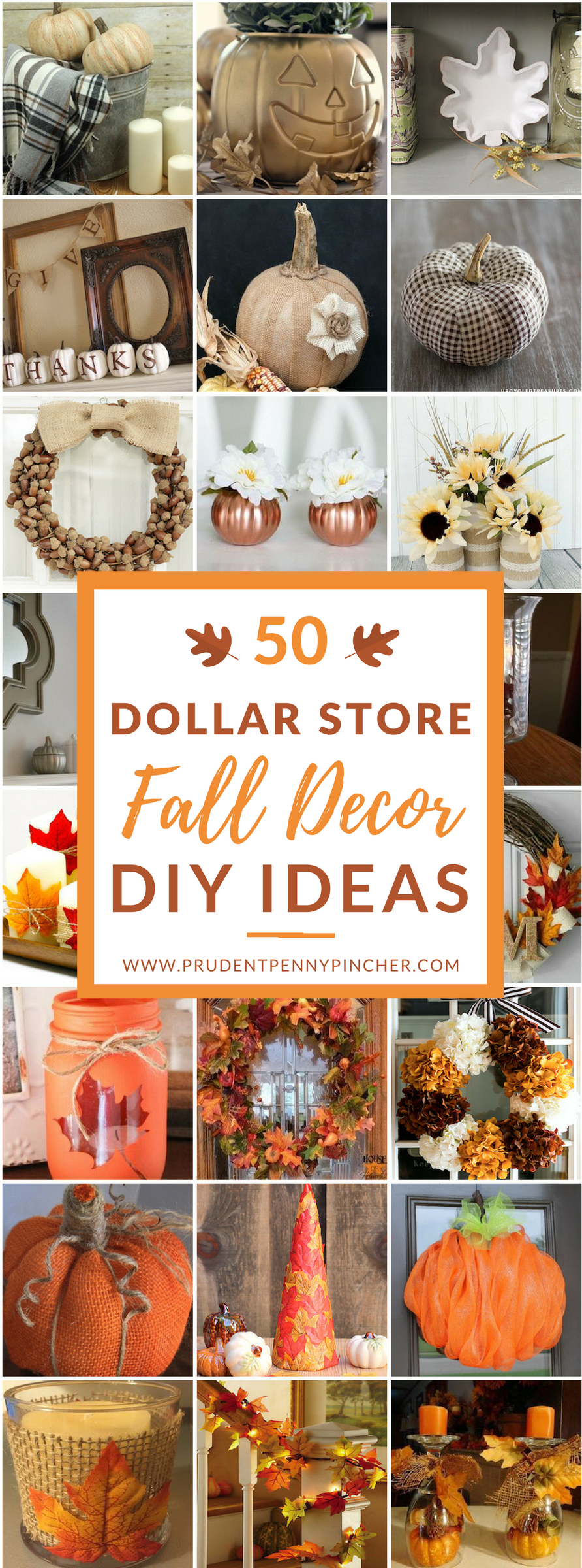 Best 50 Dollar Store Fall Decor Diy Ideas Prudent Penny Pincher This Month