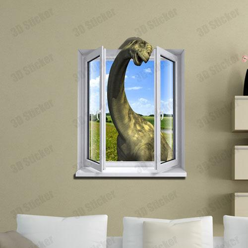 Best Fake Window Dinosaur 3D Printer Removable Wallpaper Wall This Month