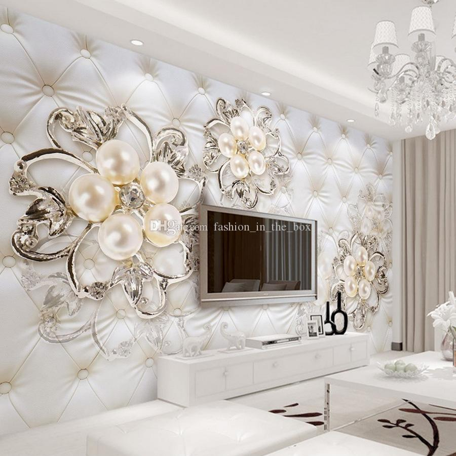 Best Custom 3D Wallpaper For Walls Crystal Pearl Flowers This Month
