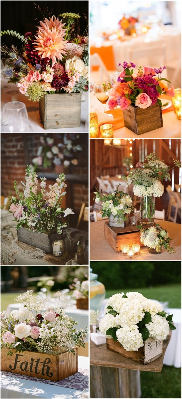 Best 20 Best Wooden Box Wedding Centerpieces For Rustic This Month