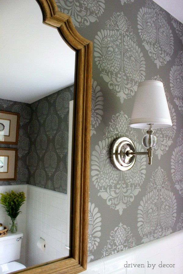 Best Our Stenciled Bathroom Budget Makeover Reveal Driven By This Month