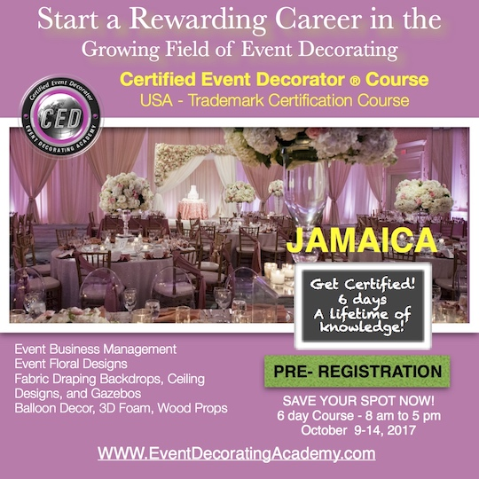 Best Event Decorating Academy Florida Decorating Class Schedule This Month