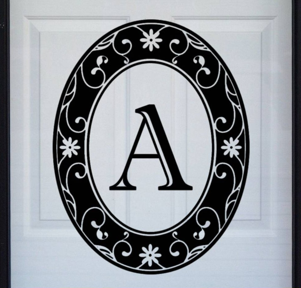 Best Black Monogram Etched Glass Window Decal This Month