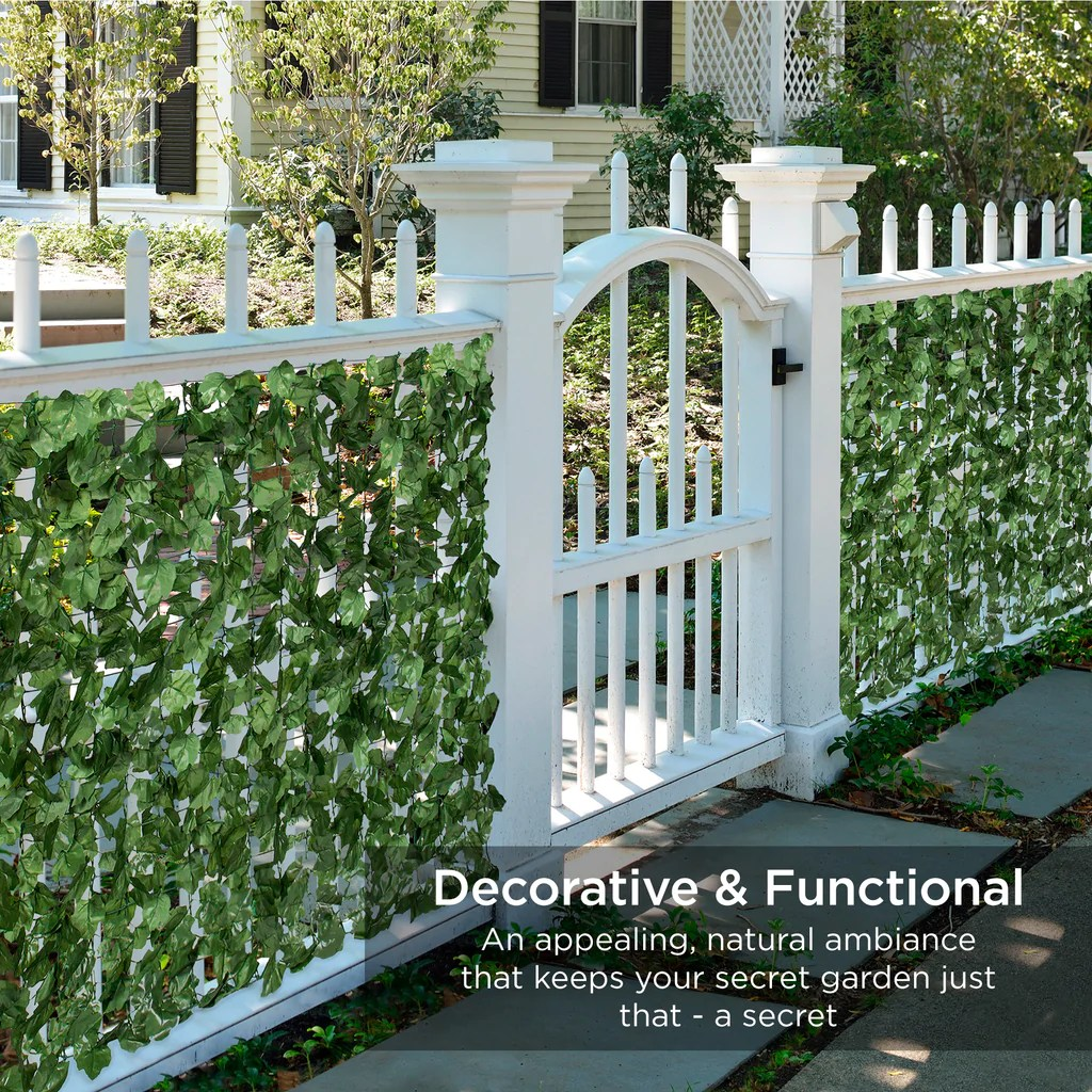 Best 94X59In Outdoor Faux Ivy Privacy Screen Fence Green This Month
