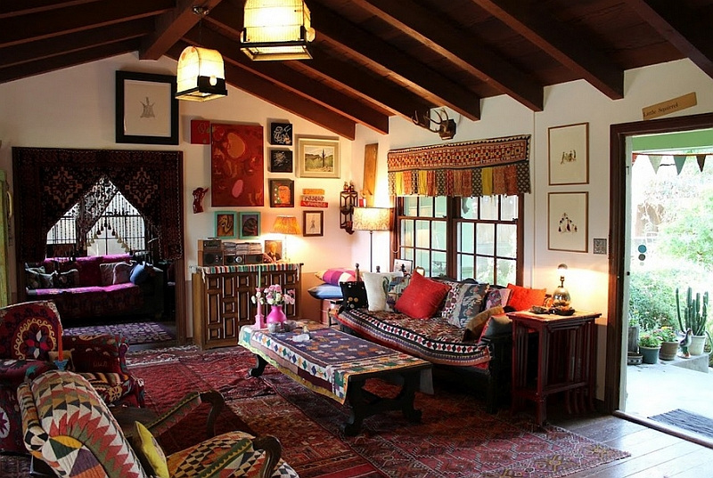 Best Bohemian Style Interiors Living Rooms And Bedrooms This Month