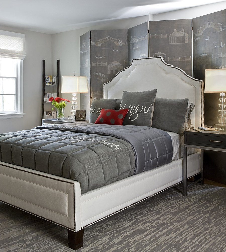 Best Polished Passion 19 Dashing Bedrooms In Red And Gray This Month