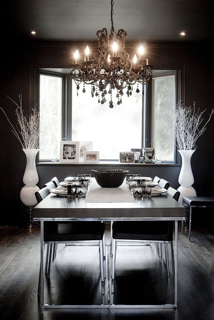 Best How To Use Black To Create A Stunning Refined Dining Room This Month