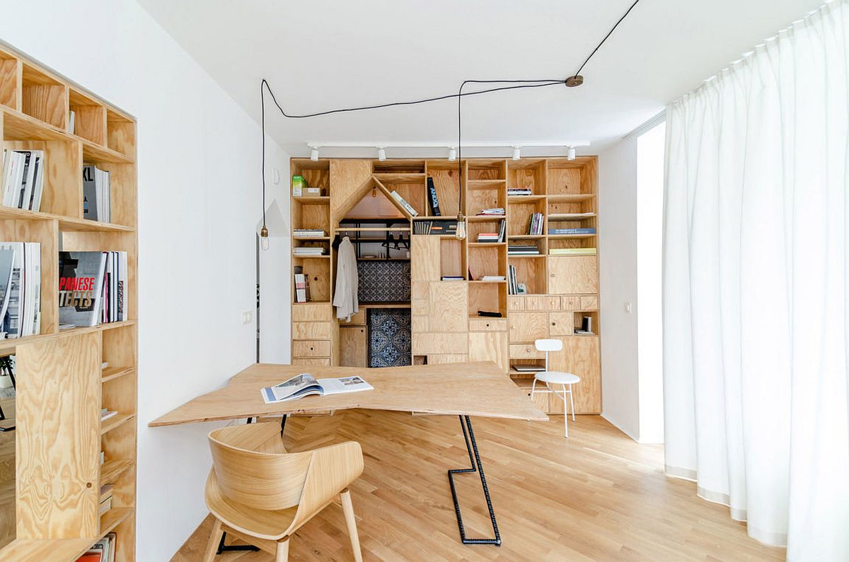 Best Ingenious Plywood Partitions And Drapes Turn Apartment This Month